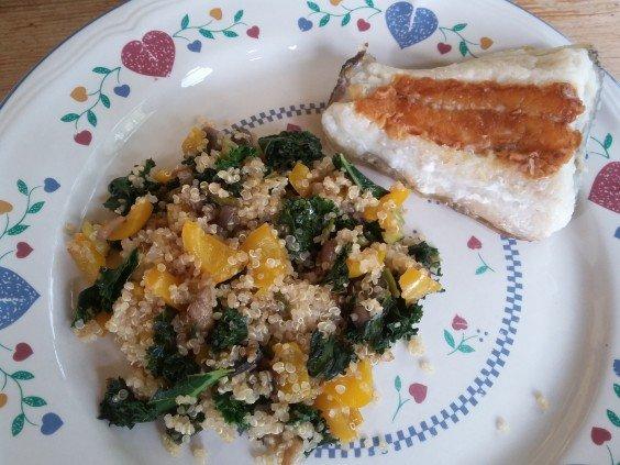 Sauteed Kale & Quinoa