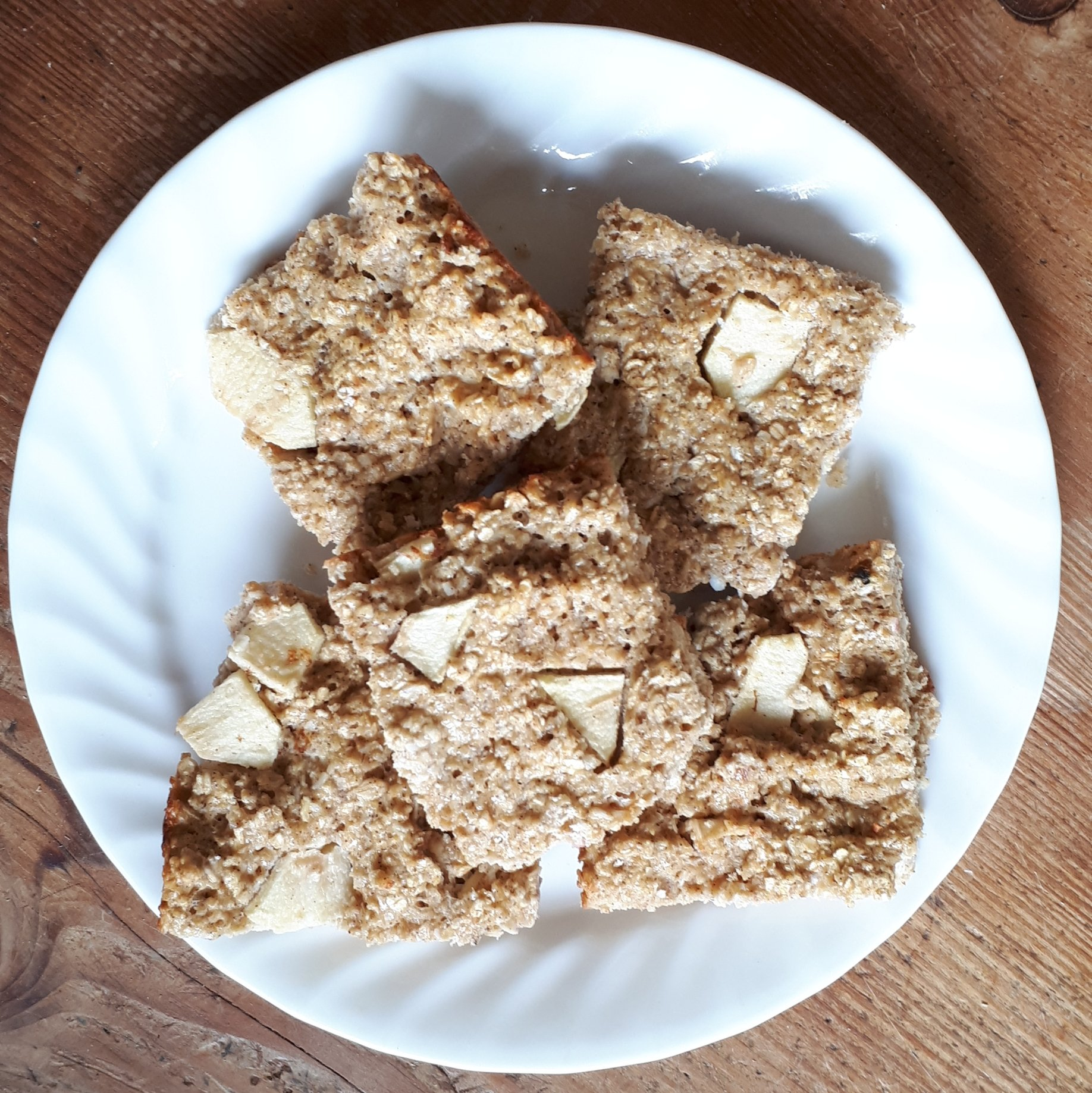 Apple Oatmeal Coconut Protein Bars