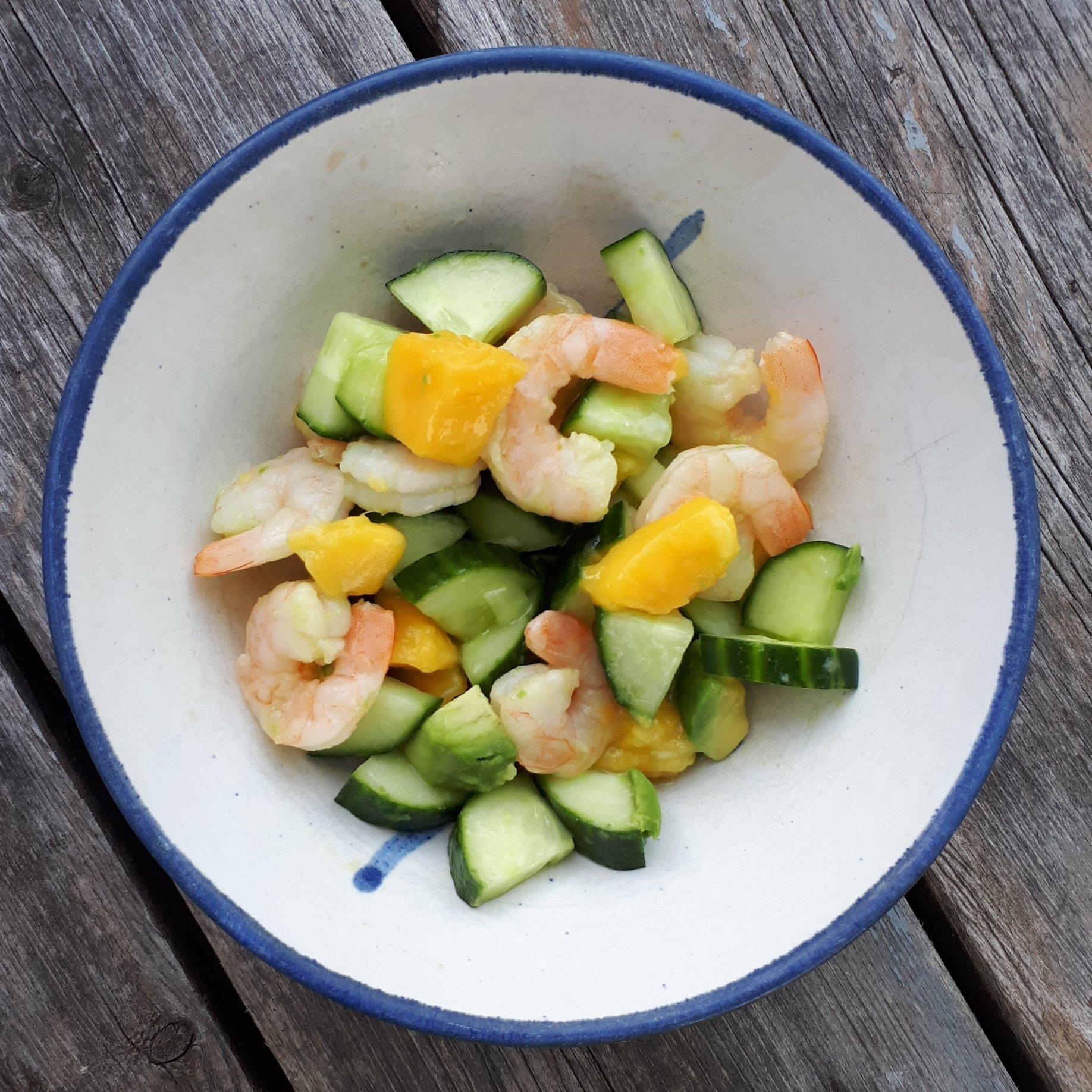 The Simple Shrimp, Mango & Avocado Summer Salad