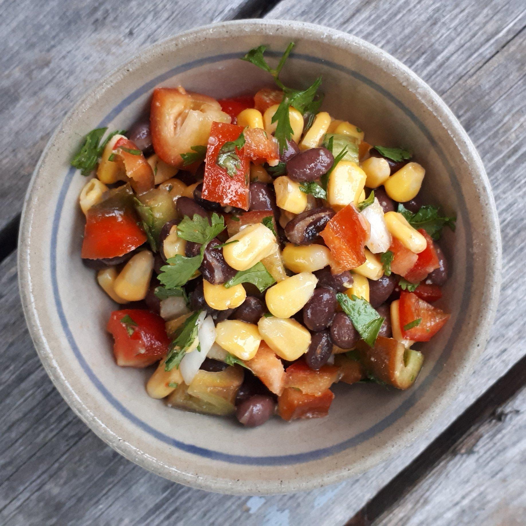 Simple Black Bean Mexican Salad